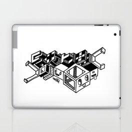 Cube monsters geometric doodle art Laptop & iPad Skin