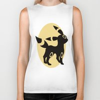umbreon Biker Tanks featuring Umbreon by Polvo