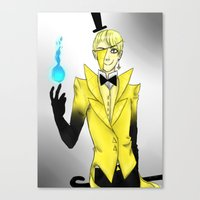 bill cipher Canvas Prints featuring Bill Cipher by Knite Villains