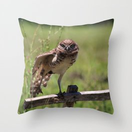 Owl Dance Party Throw Pillow