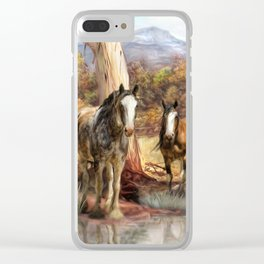 High Country Hideaway Clear iPhone Case