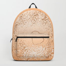 Sparkling ORANGE Lady Glitter Heart #1 (Faux Glitter) #decor #art #society6 Backpack