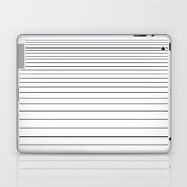 black on white stripes Laptop & iPad Skin