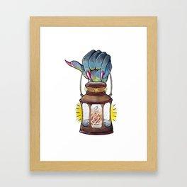 Halloween Vintage Lantern Framed Art Print