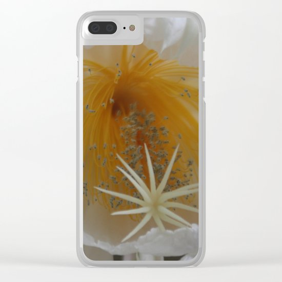 Surprise on the balcony - Queen of the Night (Epiphyllum Oxypetalum) Clear iPhone Case