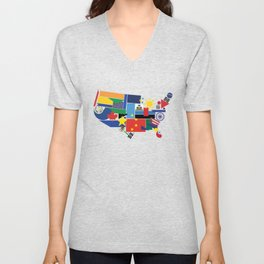 We're All Immigrants Unisex V-Neck