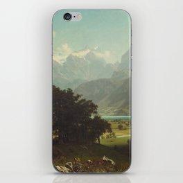 Lake Lucerne by Albert Bierstadt iPhone Skin