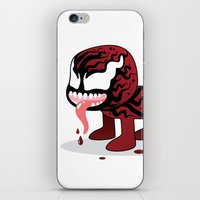 carnage iPhone & iPod Skins featuring CARNAGE ROBOTIC by We Are Robotic