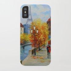 Autumn in Paris iPhone X Slim Case
