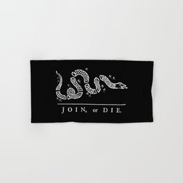 Join or Die in Black and White Hand & Bath Towel