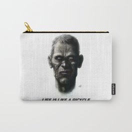 Life is like a bicycle Carry-All Pouch