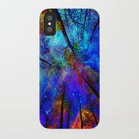 decal iPhone & iPod Cases featuring Colorful forest by haroulita