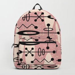 Mid Century Modern Radioactive Surfer 551 Dusty Rose Backpack