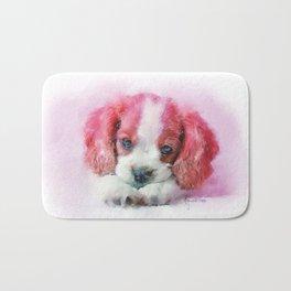 Lacy's Eyes - A Puppy Portrait Bath Mat