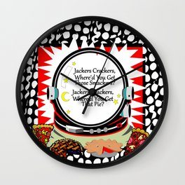 Jackers Crackers Wall Clock