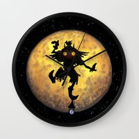 majora Wall Clocks featuring majora mask by neutrone