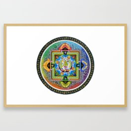 Thang-ga of Green Tara Framed Art Print