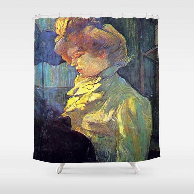 Henri De Toulouse Lautrec La Modiste The Milliner Shower Curtain By Alexandra Arts Society6