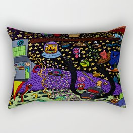 Blobs In Space Rectangular Pillow