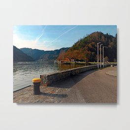 Sunny afternoon at the harbour | landscape photography Metal Print