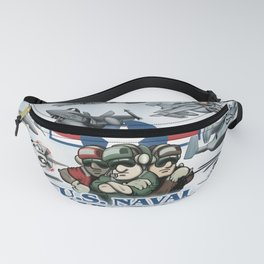 Naval Aviation Cartoon Poster Fanny Pack