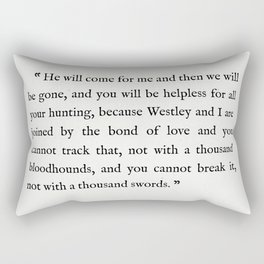 """Book Page - The Princess Bride """"The Bond of Love"""" Quote Rectangular Pillow"""