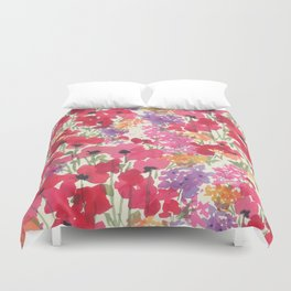 Big Red Poppy Patch Duvet Cover