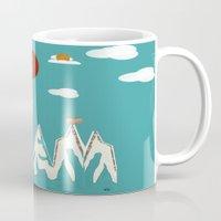 trooper Mugs featuring cloud trooper by bri.buckley
