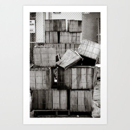 Stacks... Art Print