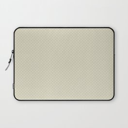 Earthy Green on Pale Beige Parable to 2020 Color of the Year Back to Nature Angled Grid Pattern Laptop Sleeve