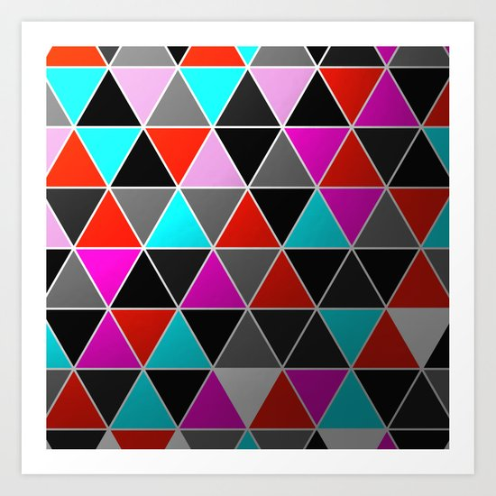 Industrial Triangles Art Print