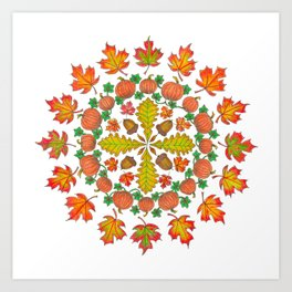 Autumn Mandala Art Print