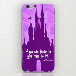 Cinderella Castle Quote iPhone Skin
