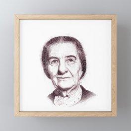 Golda Meir Framed Mini Art Print