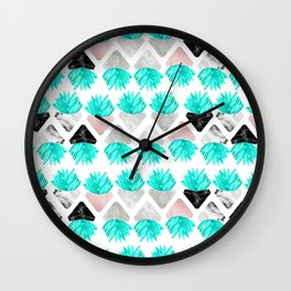 Marble Succulent Wall Clock
