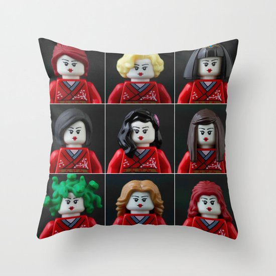 Personalities of a Geisha Throw Pillow