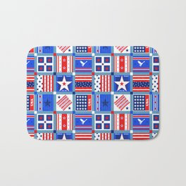 4th July Patchwork Bath Mat
