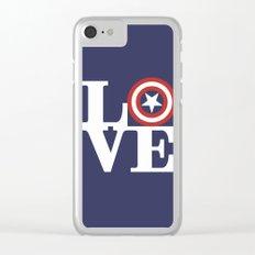 LOVE, Cap. America Hero Clear iPhone Case