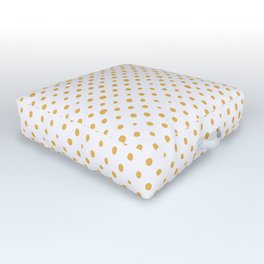 Fresh orange juice dotted pattern, from the Orange Blossom Pattern Collection Outdoor Floor Cushion