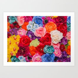 Vibrant Rainbow Flowers Art Print