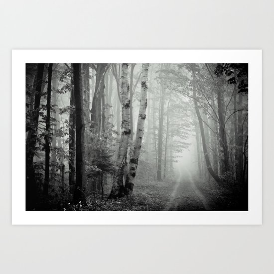 Two Track Road Art Print