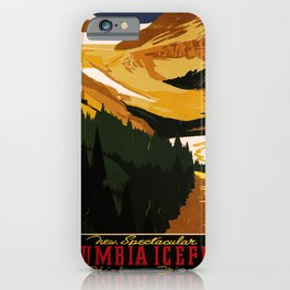 retro iconic Columbia Icefield poster iPhone Case