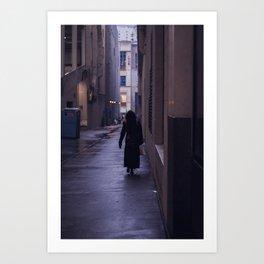 Faceless Walker Art Print