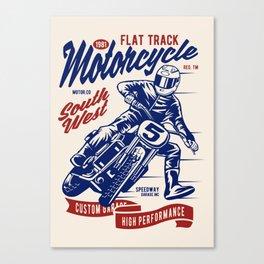 Flat Tracker Canvas Print