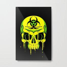 Toxic Melt Metal Print