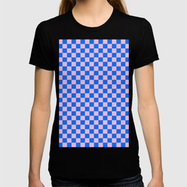 Cotton Candy Pink and Brandeis Blue Checkerboard T-shirt