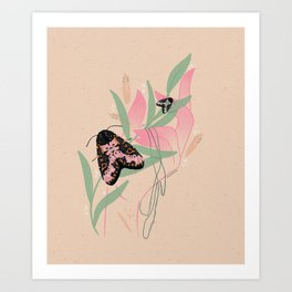 Moth in Hand Art Print