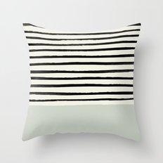 Coastal Breeze x Stripes Throw Pillow