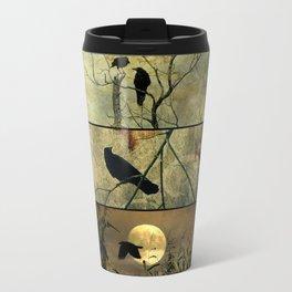 Aged Crow Collage Travel Mug