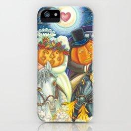 SLEEPY HOLLOW WEDDING - Brack Headless Horseman Halloween Art iPhone Case